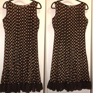 🚬 Polka Dot SANDRA DARREN Sleeveless Dress - 8